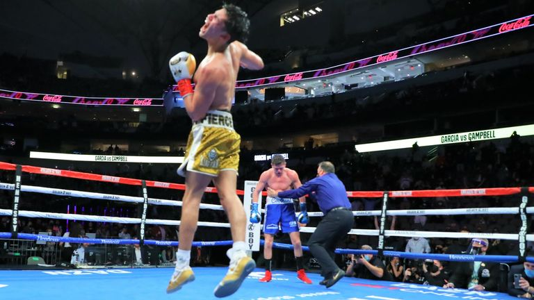 Ryan Garcia overcame an early knockout to defeat Luke Campbell