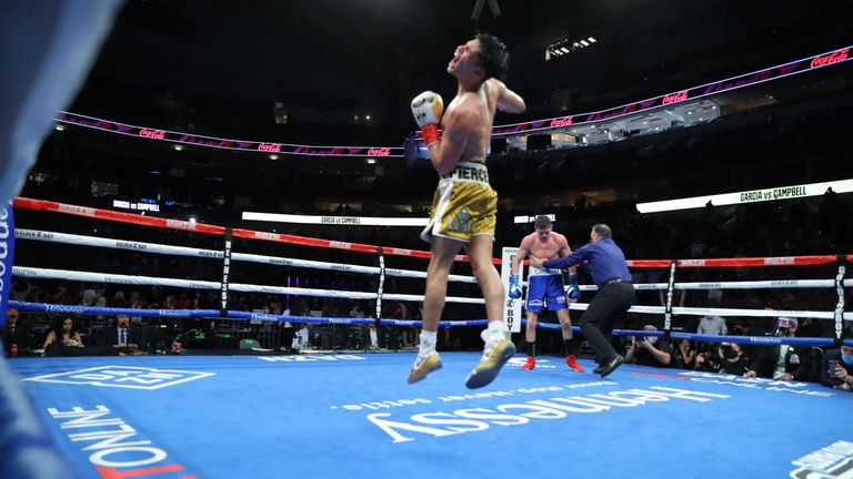 Garcia viciously ended the fight in the seventh