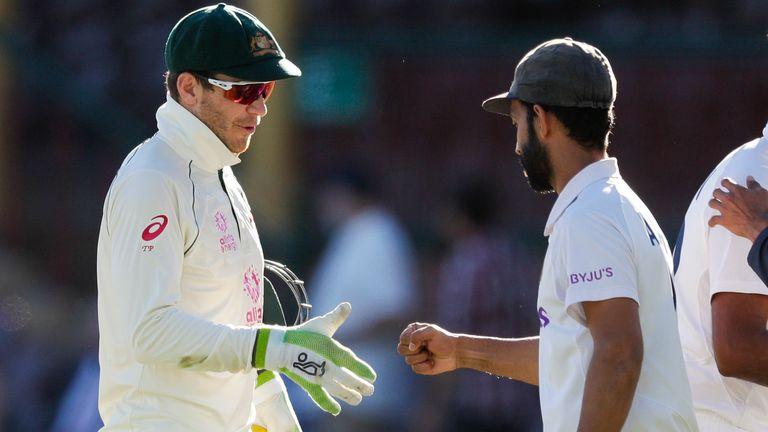 Ajinkya Rahane's India got the better of Tim Pane (L) and Australia to end the hosts unbeaten run in Brisbane