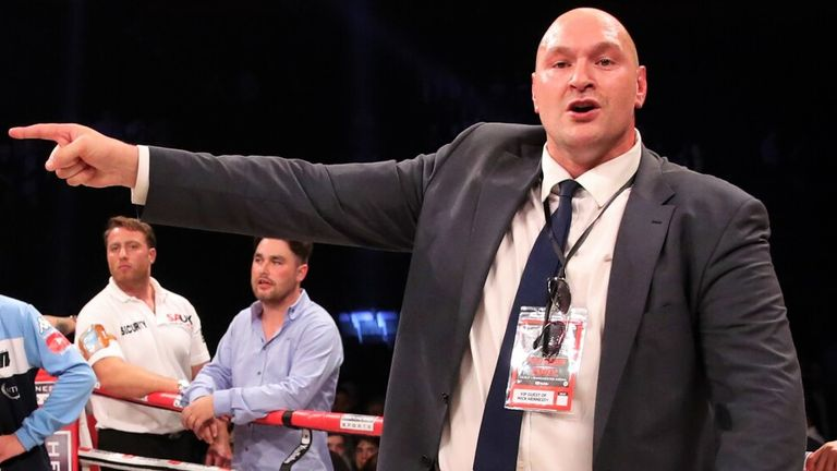 Tyson Fury vented his anger after the scorecards were announced