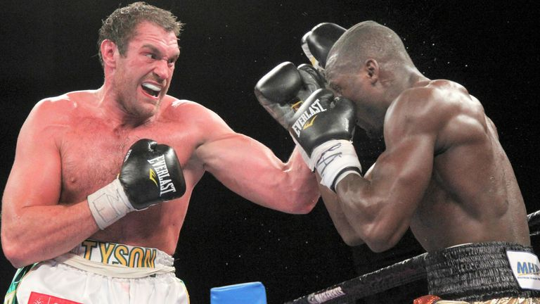 Fury climbed off the canvas to stop Steve Cunningham on his US debut