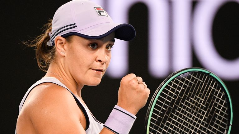 Barty is expected to head to the Middle East next month to play WTA events in Doha and Dubai