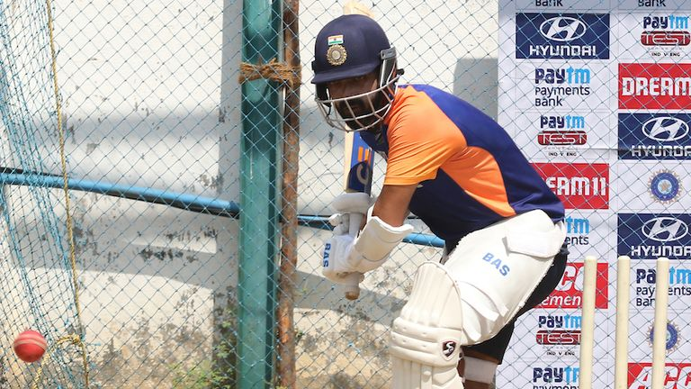 Ajinkya Rahane in the nets ahead of the second test against England (Picture: BCCI)
