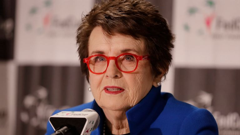 She hopes the renamed Billie Jean King Cup will inspire a new generation of players