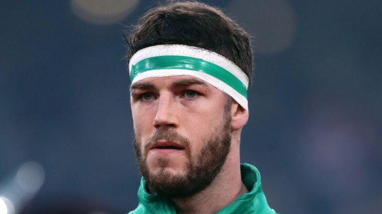 Caelan Doris has made seven appearances for Ireland since his Six Nations debut against Scotland last February