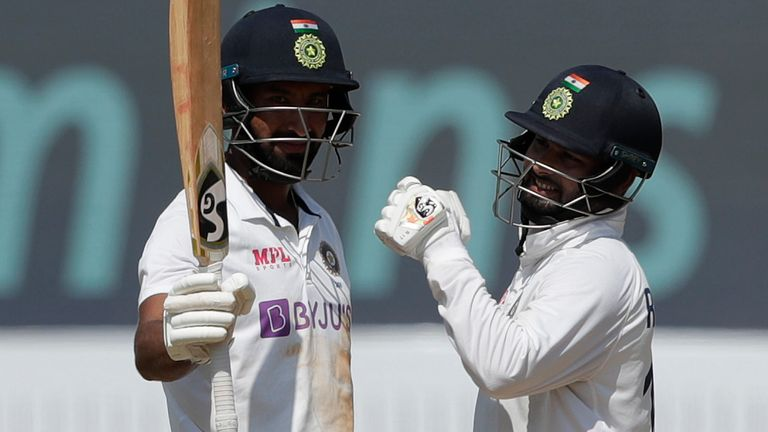 Cheteshwar Pujara and Pant put on 119 for the fifth Indian wicket (Credit: BCCI)