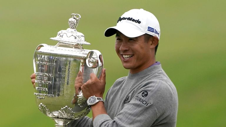 Collin Morikawa will defend his PGA title at Kiawah Island