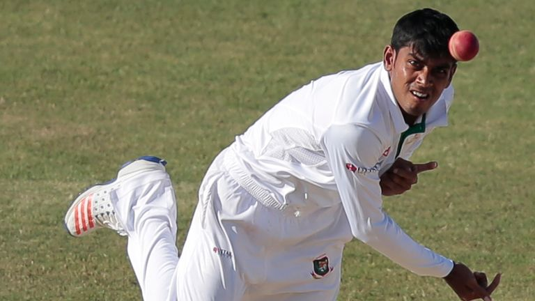 Bangladesh's Mehidy Hasan hit a half-century before taking his 100th Test wicket on day three at Mirpur