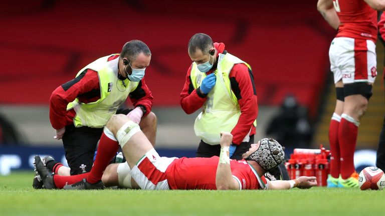 Dan Lydiate's return to Test rugby was ended by a knee injury