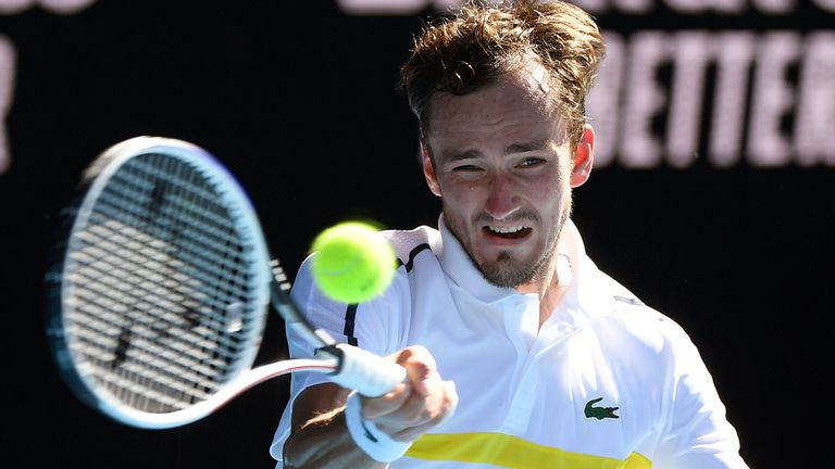 Daniil Medvedev has reached the last four of the Australian Open for the first time in his career