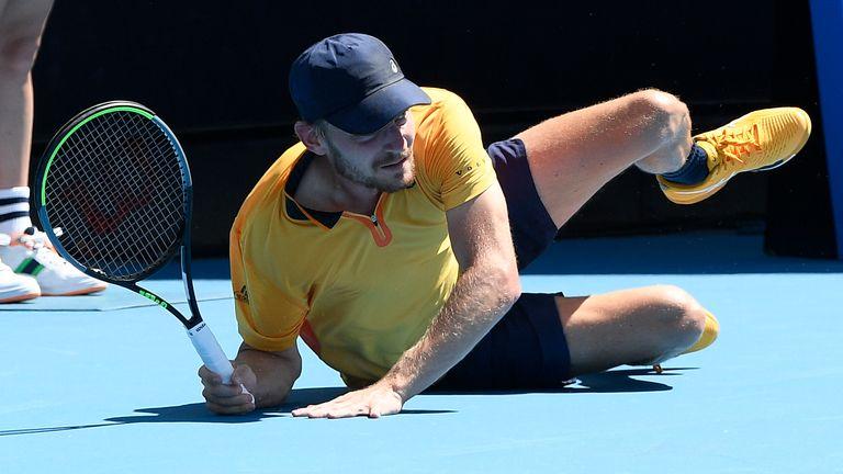 David Goffin cayó para derrotar al australiano Alexei Poppereen