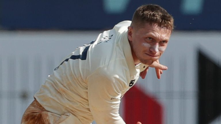 Dom Bess was left out of the second Test and consistency has been his main issue this winter (Pic credit - BCCI)