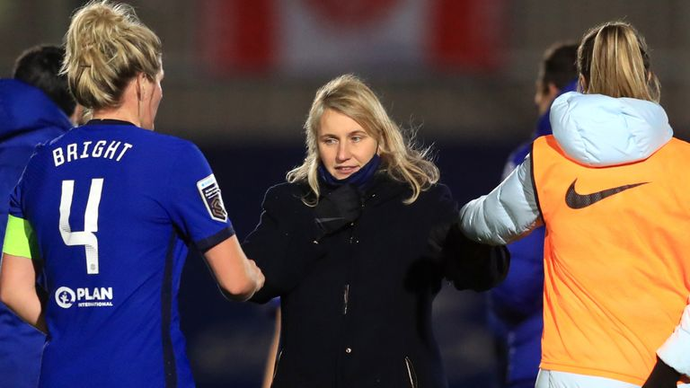 Chelsea boss Emma Hayes insists women's football is not a step down from the men's game, following reports of an approach from AFC Wimbledon