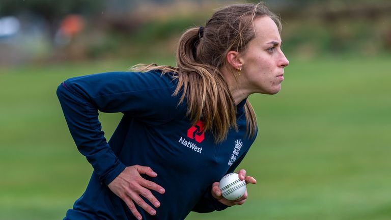 Natasha Farrant during an England training session in Queenstown, New Zealand