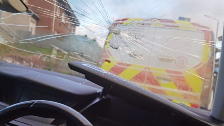 Glasgow Rocks said the windscreen of the players' car was smashed by a hammer (Credit: Glasgow Rocks)