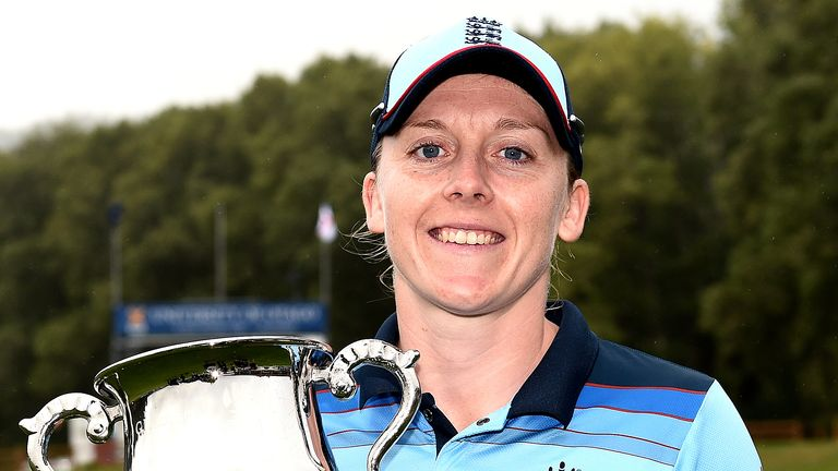 The trophy was won by Heather Knight when England won the ODI series 2-1 despite losing in Dunedin