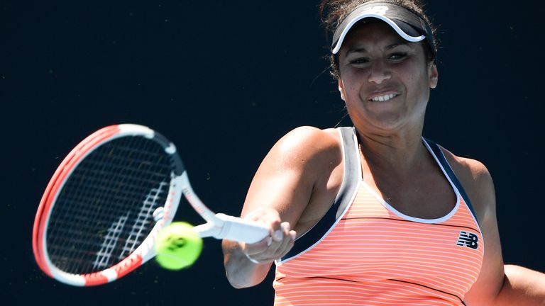 Heather Watson suffered a first-round qualifying defeat at the Madrid Open