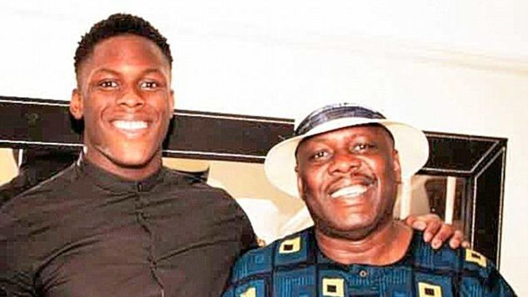 Itoje's father says he wanted his children to know right from wrong and the value of education
