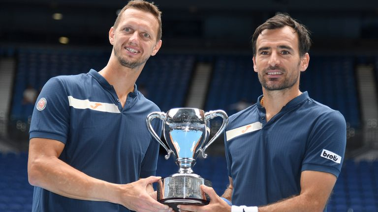 Slovakia's Filip Polasek (left) and Ivan Dodig won the men's doubles title in Melbourne