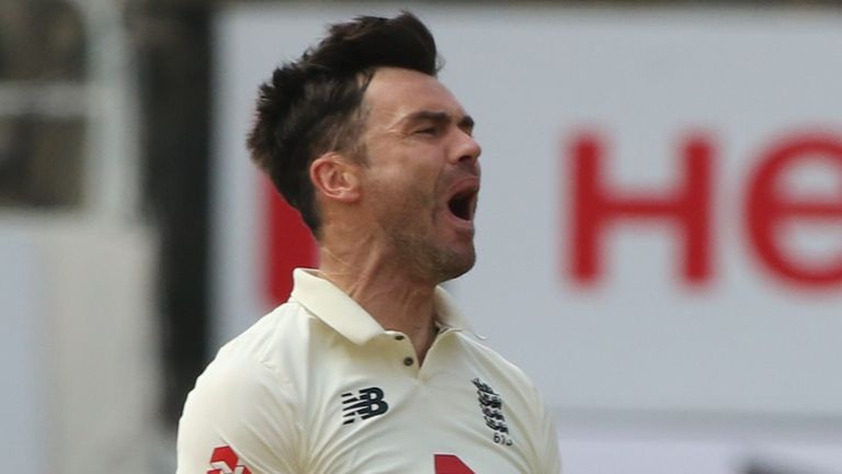 James Anderson was rested for the second Test in Chennai (Pic credit - BCCI)