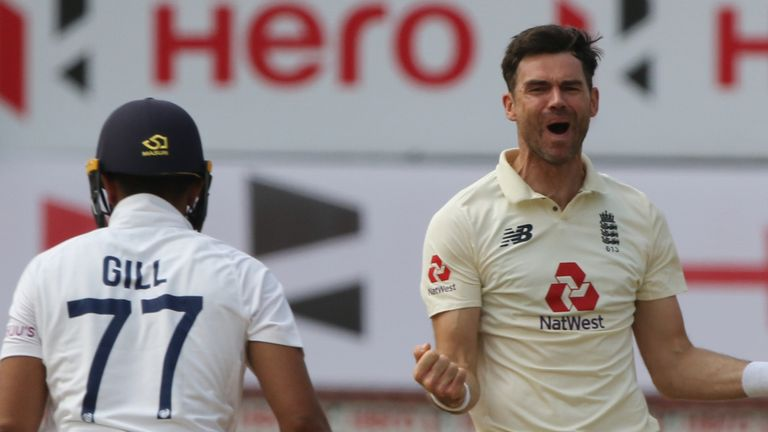 James Anderson played a key role in England's win in the first Test before being rested for the second (Picture credit: BCCI)