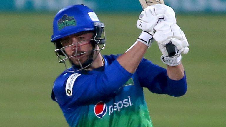 James Vince batting for Multan Sultans in the Pakistan Super League