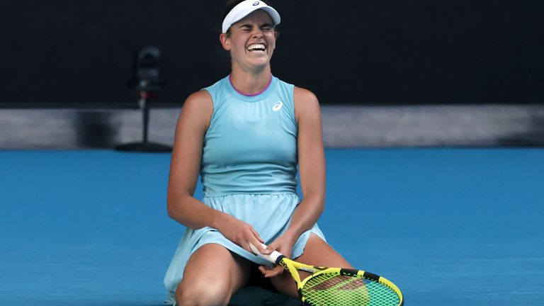 Brady was embroiled in a three-set battle against 25th seed Karolina Muchova in the semi-finals