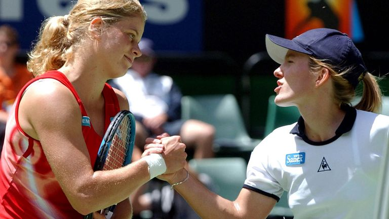 Justine Henin defeated fellow Belgian Kim Clijsters to win her one and only title in Melbourne