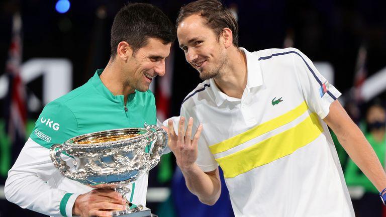 Novak Djokovic beat Daniil Medvedev in straight sets in Sunday's final