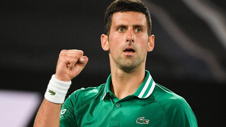 Novak Djokovic defeated Alexander Zverev in four sets to reach the Australian Open semi-finals