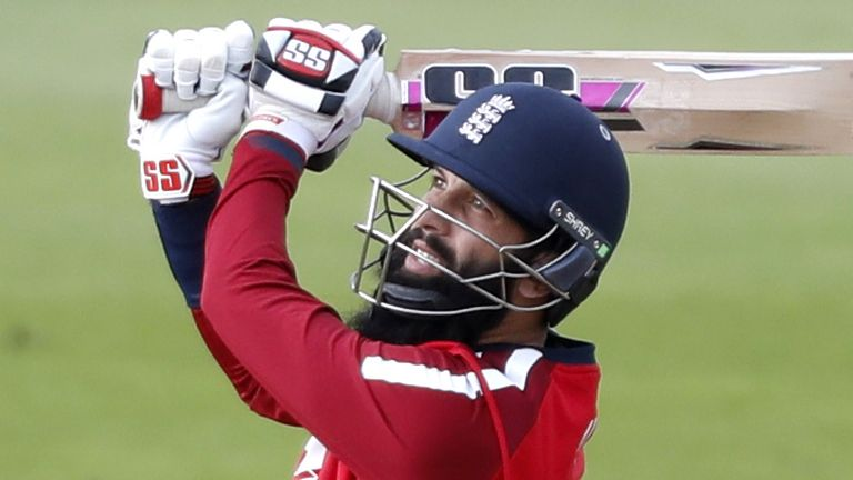 Silverwood says Moeen Ali (pictured) did not play in the T20I series purely because of the pitches England encountered