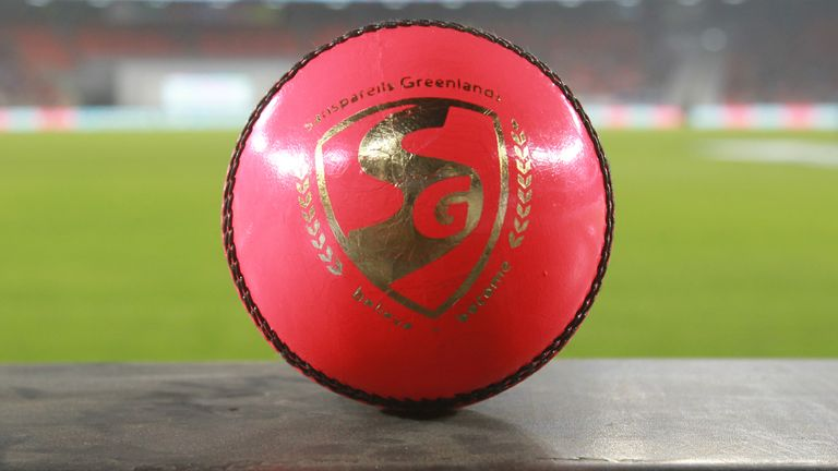 The pink SG ball helped the spinners, mostly with deliveries that did not turn (Pic credit - BCCI)