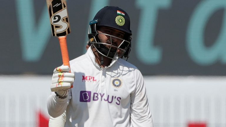 India's Rishabh Pant struck five sixes and nine fours in a pulsating innings against England