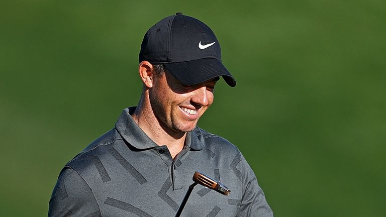 McIlroy chipped in at the 16th, in front of only a handful of fans