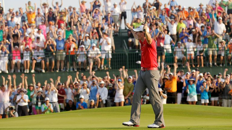 Rory McIlroy won the PGA Championship at Kiaw ah Island in 2012