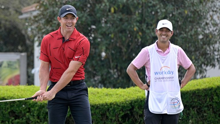 Rory McIlroy was also in red for the final day