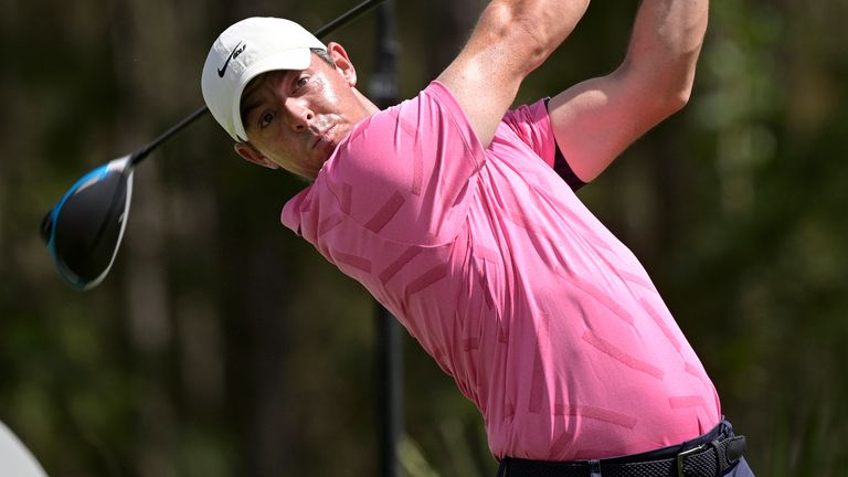 Rory McIlroy is just four off the lead going into the final round