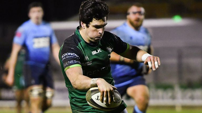 Connacht wing Alex Wootton scored two tries in four first-half minutes against Cardiff Blues
