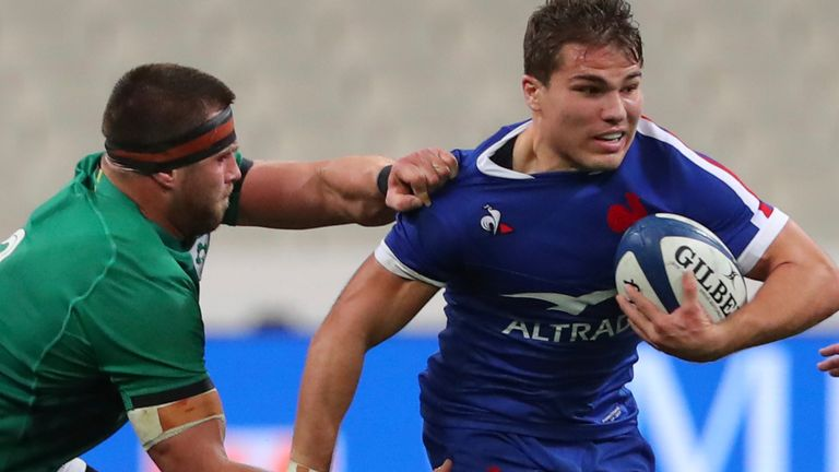 Antoine Dupont scored a try in France's Six Nations win over Ireland last October