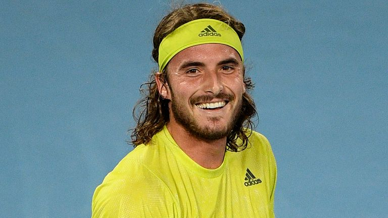Stefanos Tsitsipas secured just the second victory of his career against Rafael Nadal and converted his third match point