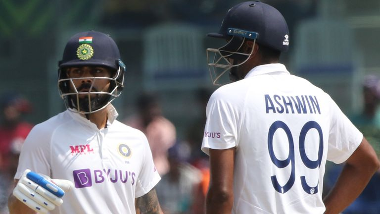 Ravi Ashwin helped Virat Kohli put on 96 for the seventh wicket as India recovered from 106-6 against England (Pic credit - BCCI)
