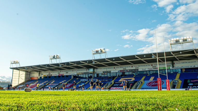 Warrington's Halliwell Jones Stadium uses solar power and recycles rainwater to use on the pitch