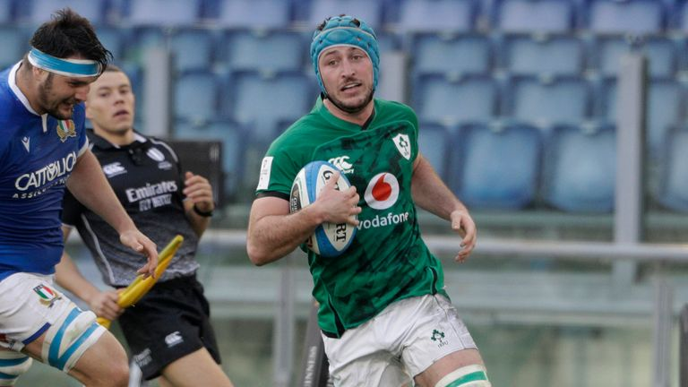 Flanker Will Connor scored two tries at the Stadio Olimpico