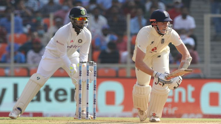 Zak Crawley struck 53 at the top of England's first innings in Ahmedabad before India's spinners took control. Pic: BCCI