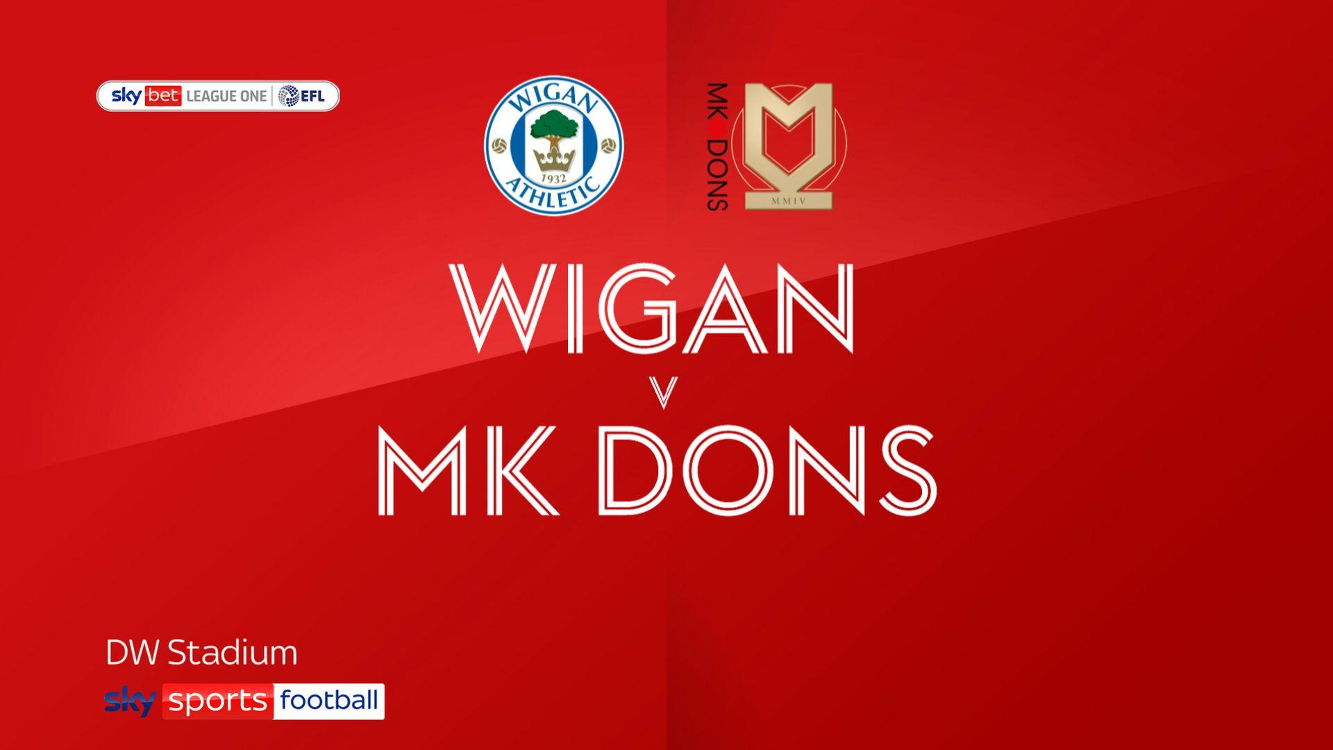 Struggling Wigan hit three past MK Dons