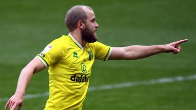 Norwich City's Teemu Pukki celebrates scoring his first goal against Luton