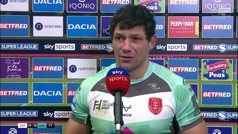Despite scoring a hat-trick on his debut for Hull KR, Ryan Hall was disappointed not to get the victory in their season opener against Catalans Dragons
