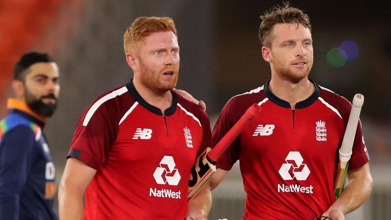 Buttler and Jonny Bairstow shared an unbeaten stand of 77 to take England to victory in Ahmedabad