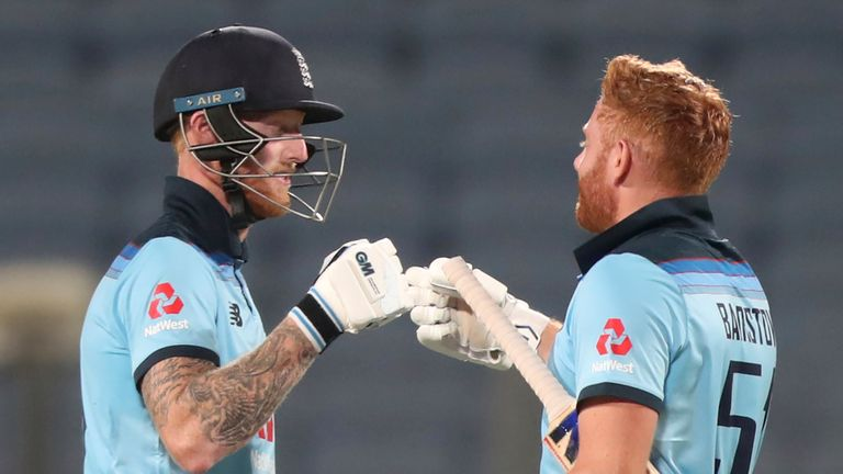 Ben Stokes and Jonny Bairstow shared in a thrilling 175-run partnership as England chased down 337 to beat India in the second ODI