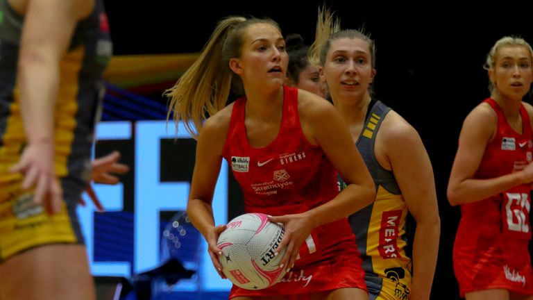 Mid-courter Dix and Sirens are in the middle of a double-header weekend against Wasps Netball and Team Bath